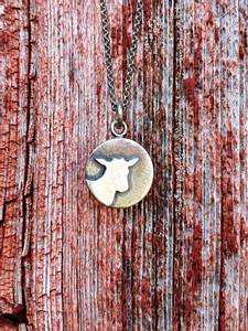 Bilde av Sølvsmykke: pålodda geit, lite