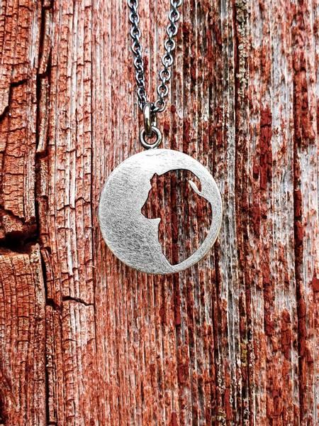 Sølvsmykke: Utsaga villsau/gammelnorsk sau, stor