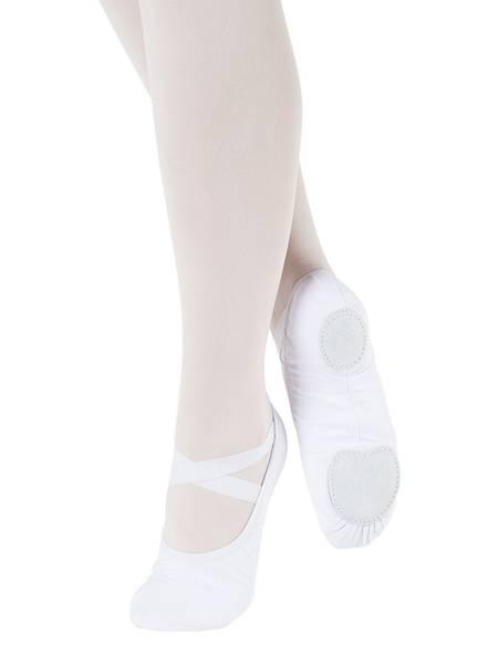 Hvite ballettsko stretch canvas