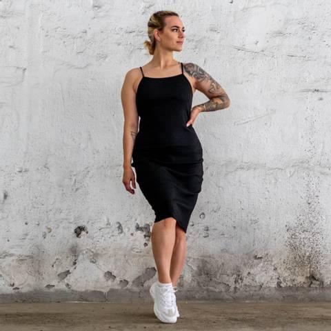 Bilde av Bara Black Ribbed Sleeveless Dress