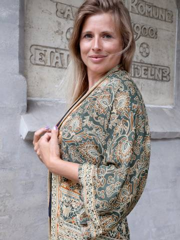 Bilde av Chic Antique Kimono - Oliven