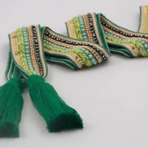 Nora Norway Belt Knit Tassle - Lightgreen