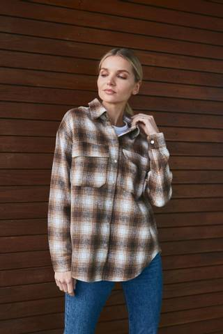 Bilde av A-View Stine Skjorte - Beige