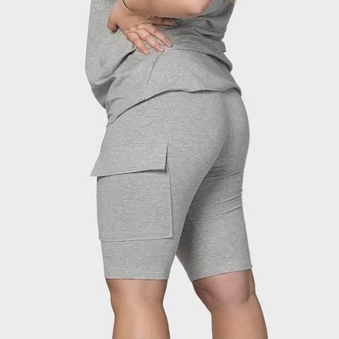 Bilde av BEKKA Pocket Shorts - Gray Melange