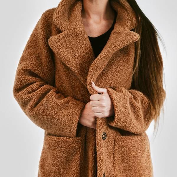 BEKKA Chunky Teddy Coat - Honey