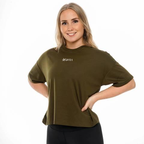 Bilde av Bara Khaki Oversized Eco T-shirt