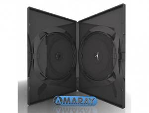 Bilde av Amaray dvd cover sort for 2 plater 1 stk.