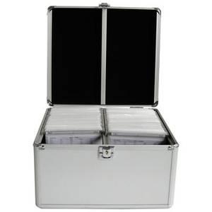 Bilde av DJ Aluminiumkasse med plass til 300 stk cd/dvd plater