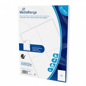 Bilde av MediaRange Flerbruksetiketter, permanent lim 105x148mm 200 stk