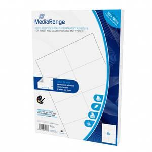 Bilde av MediaRange Flerbruksetiketter, permanent lim 105x74mm 400 stk