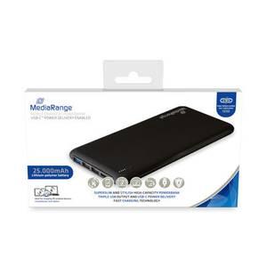 Bilde av MediaRange batteribank , 25.000mAh, med USB-C™