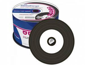 Bilde av Mediarange 52x CD-R hvit printbar m/Vinyl sort dye 50 stk