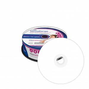 Bilde av MediaRange AUDIO CD-R 80min hvit printbar 25 stk