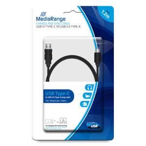 Bilde av MediaRange Lade og synk. kabel USB 3.1 Type-C til USB 3.0 1,2m