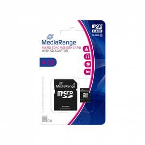 Bilde av Mediarange microSDHC™ minnekort 4GB med adapter 1 stk