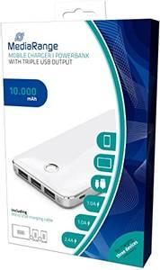 Bilde av MediaRange batteribank 10.000 mAh M / 3 USB utganger