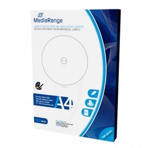Bilde av Mediarange cd  label glanset 50 ark 100 etiketter