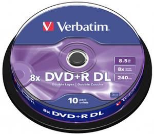 Bilde av Verbatim DVD+R 8x 8.5GB Dobbel lags  logo 10 stk