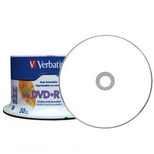 Bilde av Verbatim DVD+R 8x 8,5GB dobbel lags hvit printbar 50 stk