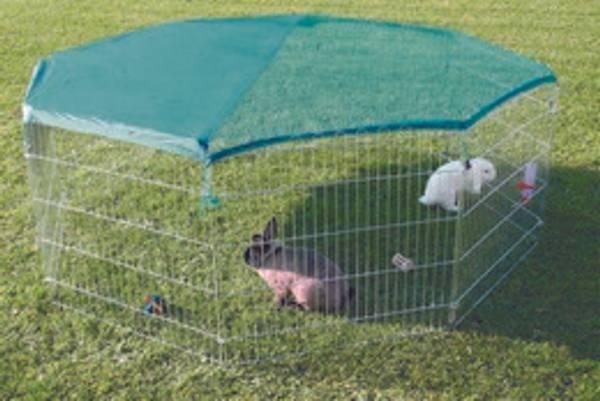 Bilde av Utebur kanin m/ netting og solbskytter