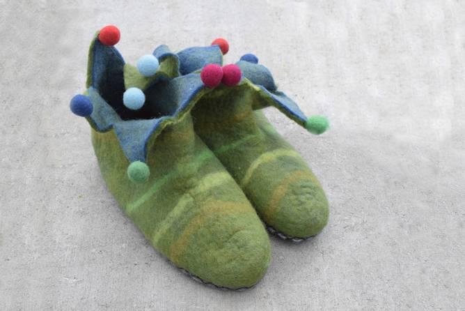 Bilde av Grønne klovnetøfler, strl. 40