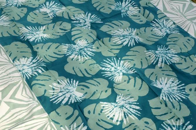 Bilde av Batikkfarget bomullsduk grønn