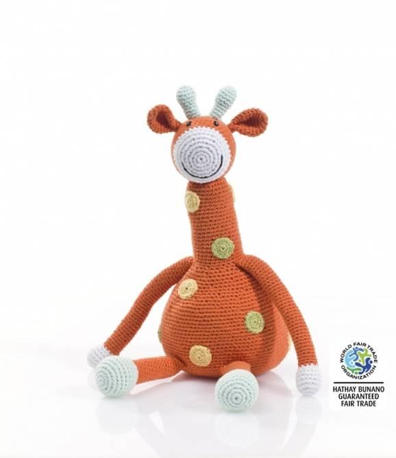 Bilde av Oransje heklet giraff