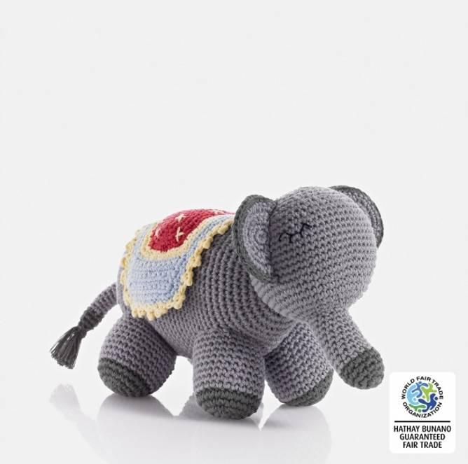 Bilde av Grå heklet elefant