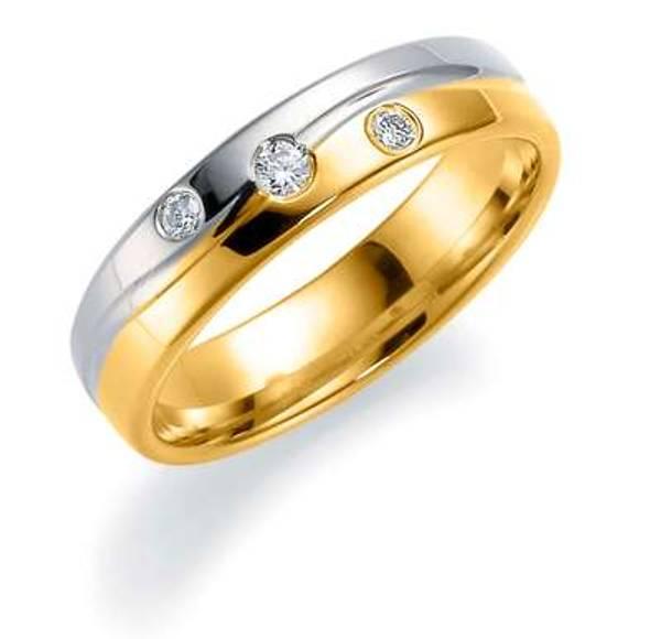 Bilde av Deg&Meg ring 585 gull 5mm 0,09ct SE151TF50 pris per stk