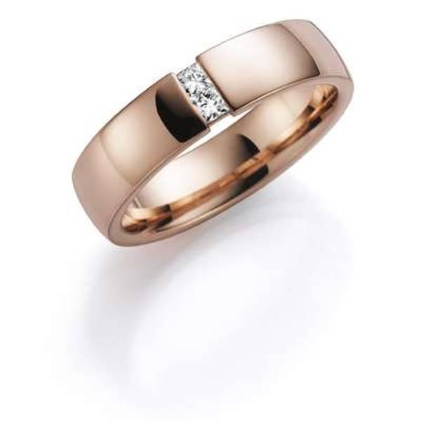 Bilde av Deg&Meg ring 585 roségull 5mm 0,10ct SE152RO50