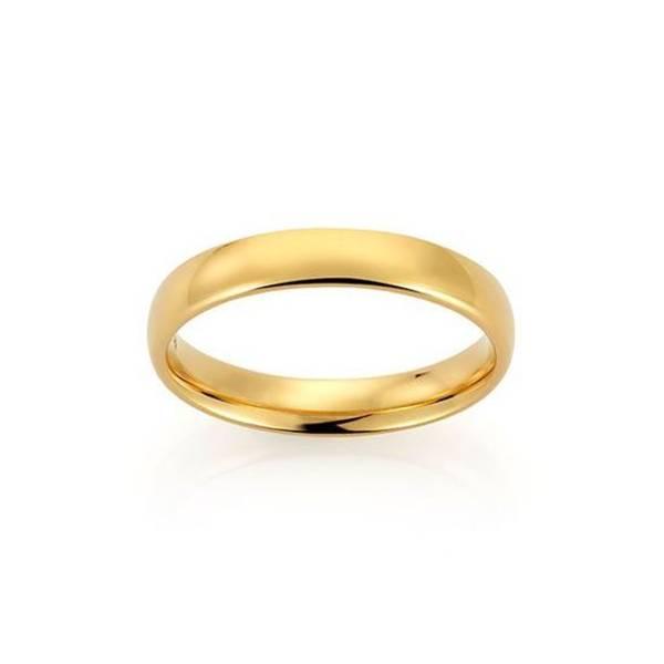 Bilde av Emotions ring gult gull 4mm 2289904 pris pr stk