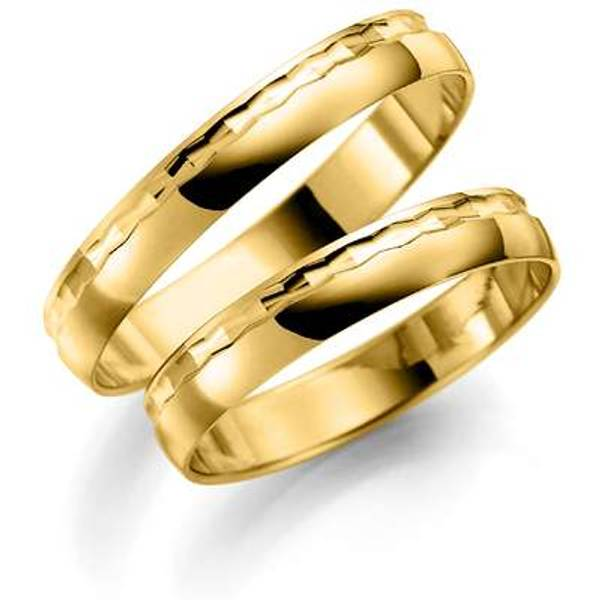 Bilde av Deg&Meg ring 585 gultgull 3,5mm SE117GU35 pris per stk