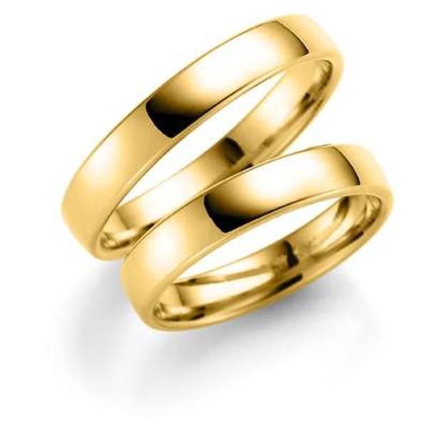 Bilde av Deg&Meg ring 585 gultgull 4mm SE101GU40 pris per stk.
