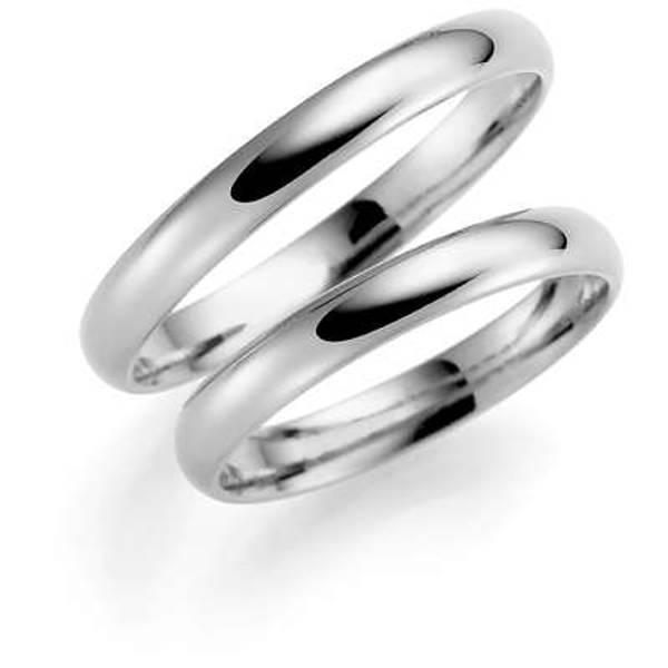 Bilde av Deg&Meg ring 585 hvittgull 3mm SE102HV30 pris per stk