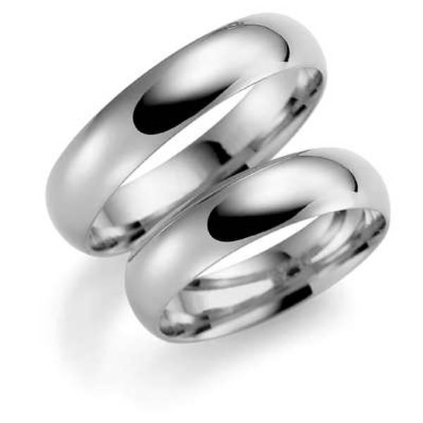 Bilde av Deg&Meg ring 585 hvittgull 5mm SE104HV50 pris per stk