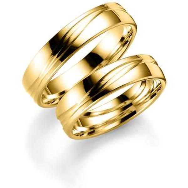 Bilde av Deg&Meg ring 585 gultgull 5mm SE120GU50 pris per stk