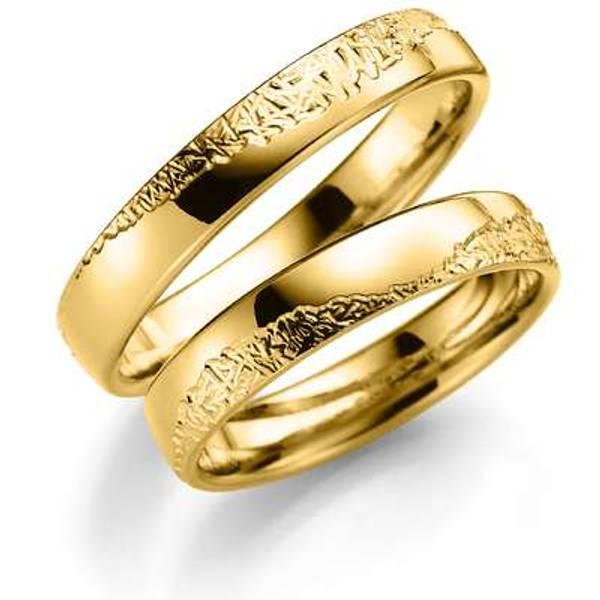 Bilde av Deg&Meg ring 585 gultgull 4mm SE124GU40 pris per stk