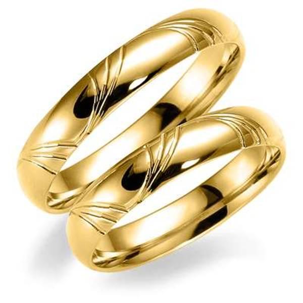 Bilde av Deg&Meg ring 585 gultgull 4mm SE125GU40 pris per stk