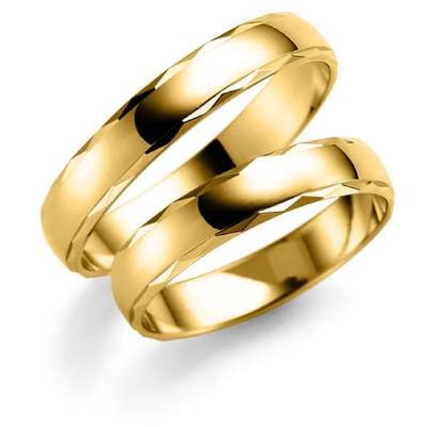 Bilde av Deg&Meg ring 585 gultgull 4mm SE127GU40 pris per stk