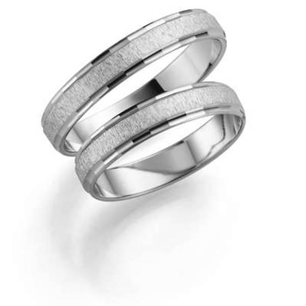 Bilde av Deg&Meg ring 585 hvittgull 4mm SE128HV40 pris per stk
