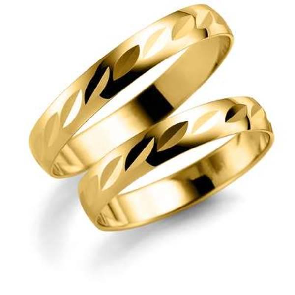 Bilde av Deg&Meg ring 585 hvittgull 3,5mm SE129HV35 pris per ring