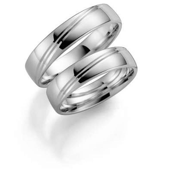 Bilde av Deg&Meg ring 585 hvittgull 5mm SE130HV50