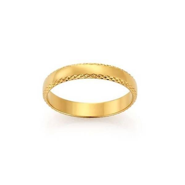 Bilde av Emotions ring gult gull 4mm 2289013 pris pr stk