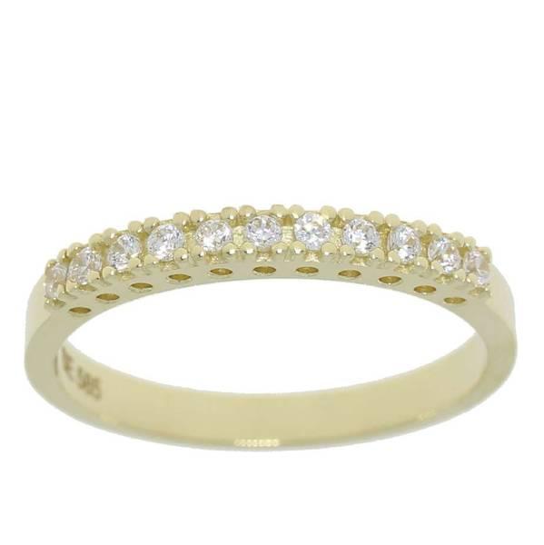 Bilde av Ring 585 gult gull cz 57067