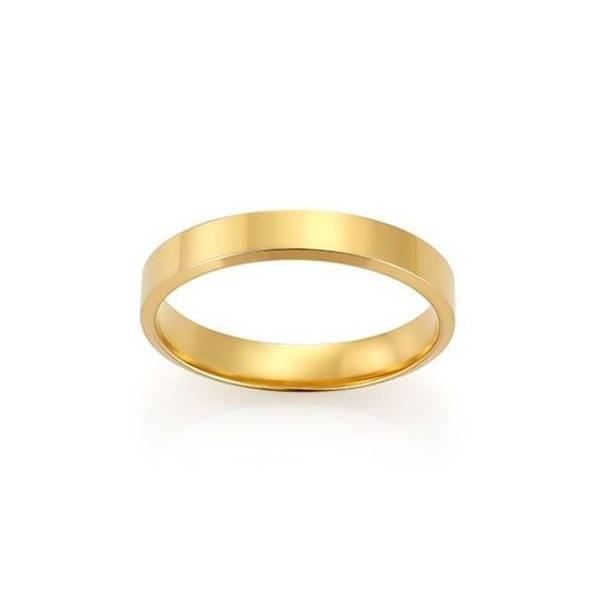 Bilde av Emotions ring gult gull 4mm 2289052 pris pr stk