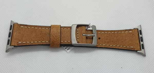 Bilde av Condor skinn rem Apple watch 42mm lysebrun AWL42003