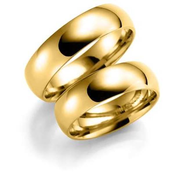 Bilde av Deg&Meg ring 585 gultgull 6mm SE105GU60 pris per stk