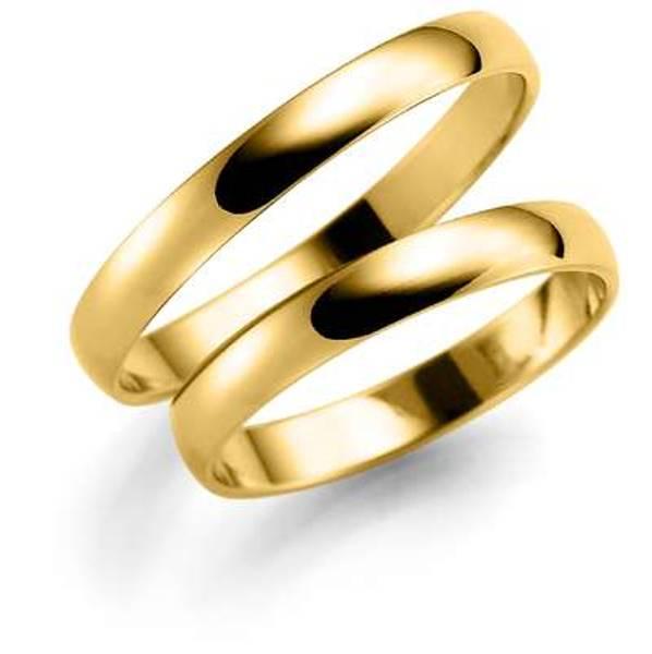 Bilde av Deg&Meg ring 585 gultgull 3mm SE106GU30 pris per ring