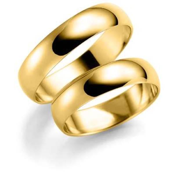 Bilde av Deg&Meg ring 585 gultgull 5mm SE108GU50 pris per stk