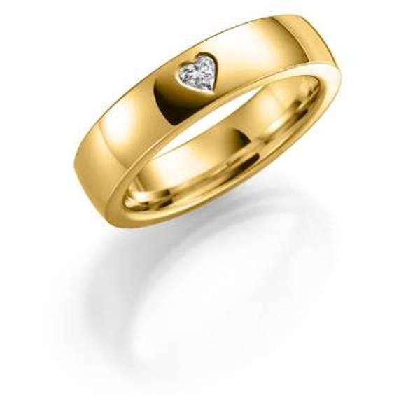Bilde av Deg&Meg ring 585 hvittgull 5mm 0,12ct SE141HV50 pris per stk